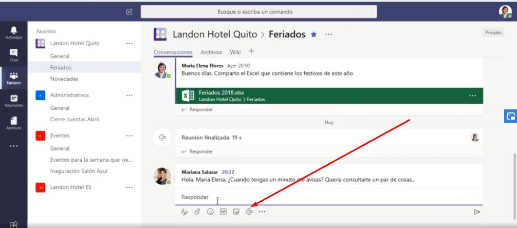 Como hacer videoconferencia en Microsoft Teams