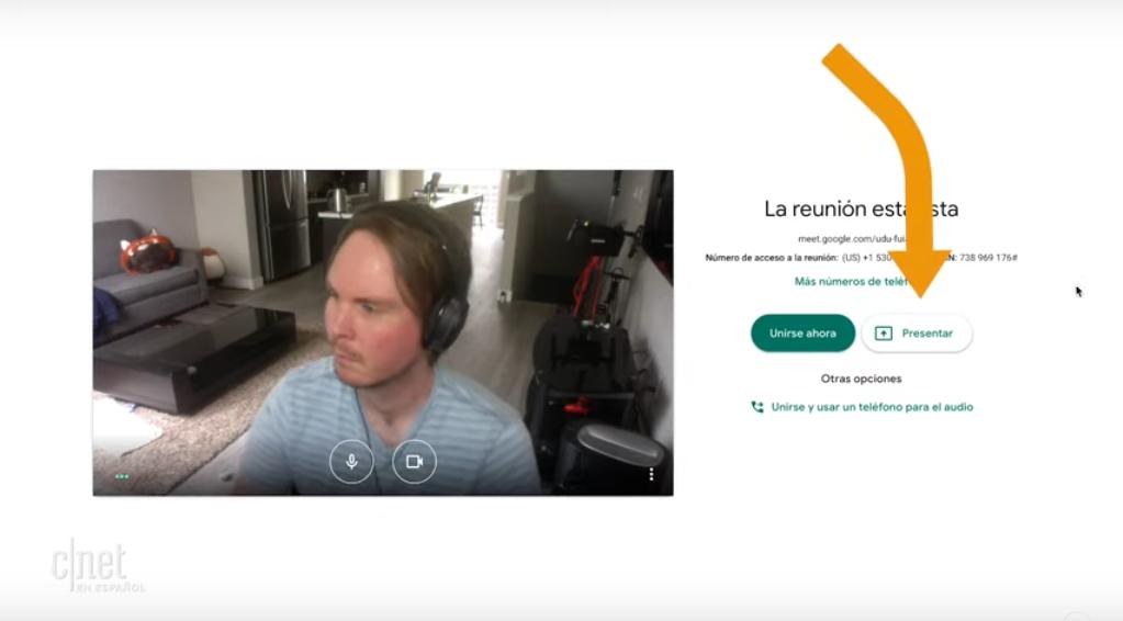 Como hacer videollamada con Google Meet